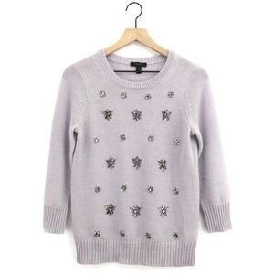 J. Crew lavender beaded sweater